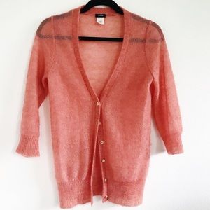 J. Crew button down long 3/4 sleeve sweater S